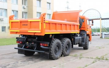 Tipper truck of the model  on the chassis KAMAZ 43118 with a new body!