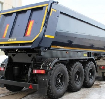 NEW! Tipper trailer model 9576-03S with a discharge tray in the rear of the body