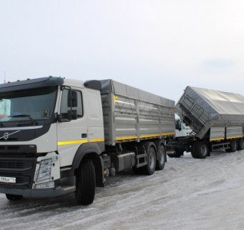 NEW! Grain carrier truck on the chassis of VOLVO